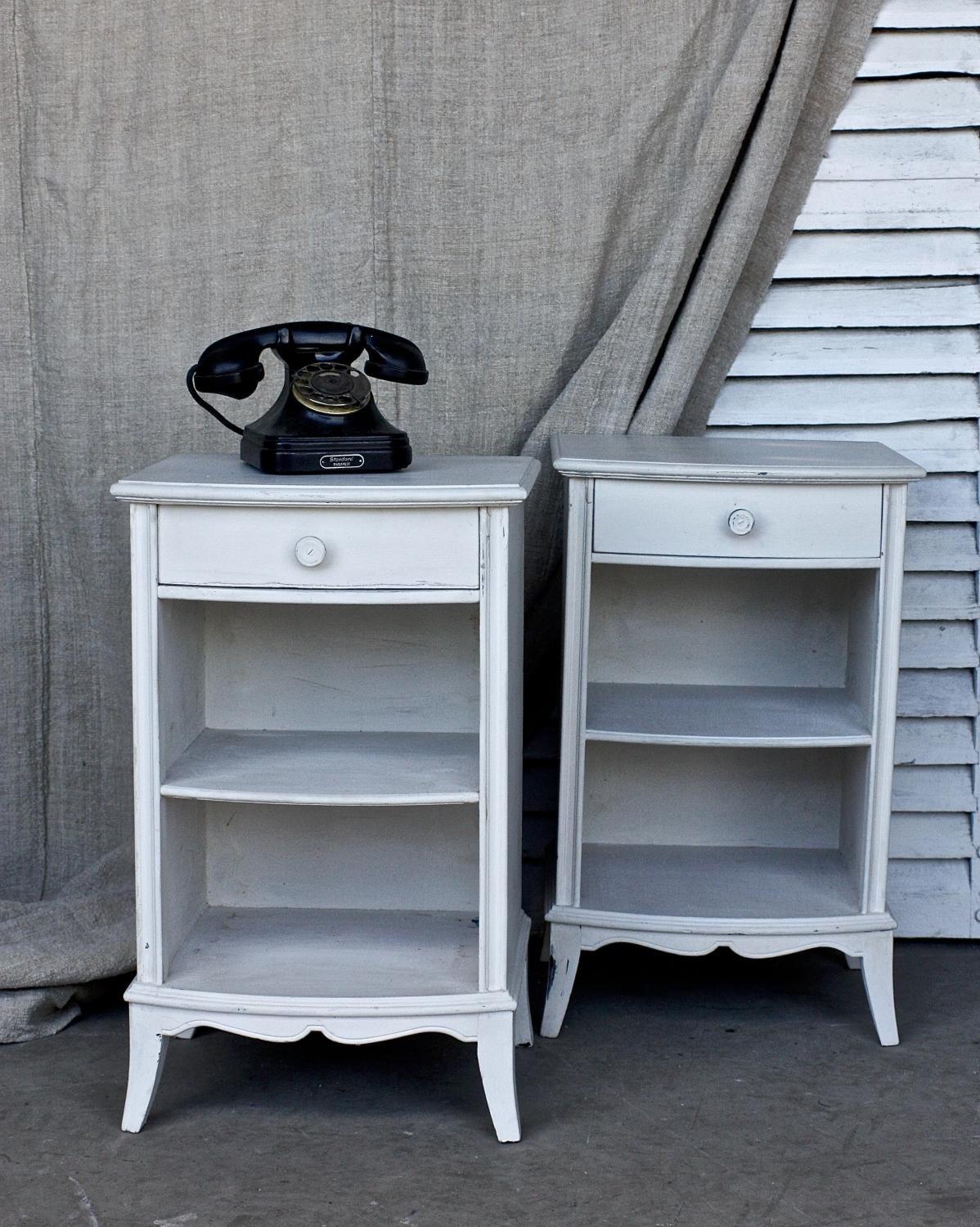 Pair Painted Pot Cupboards