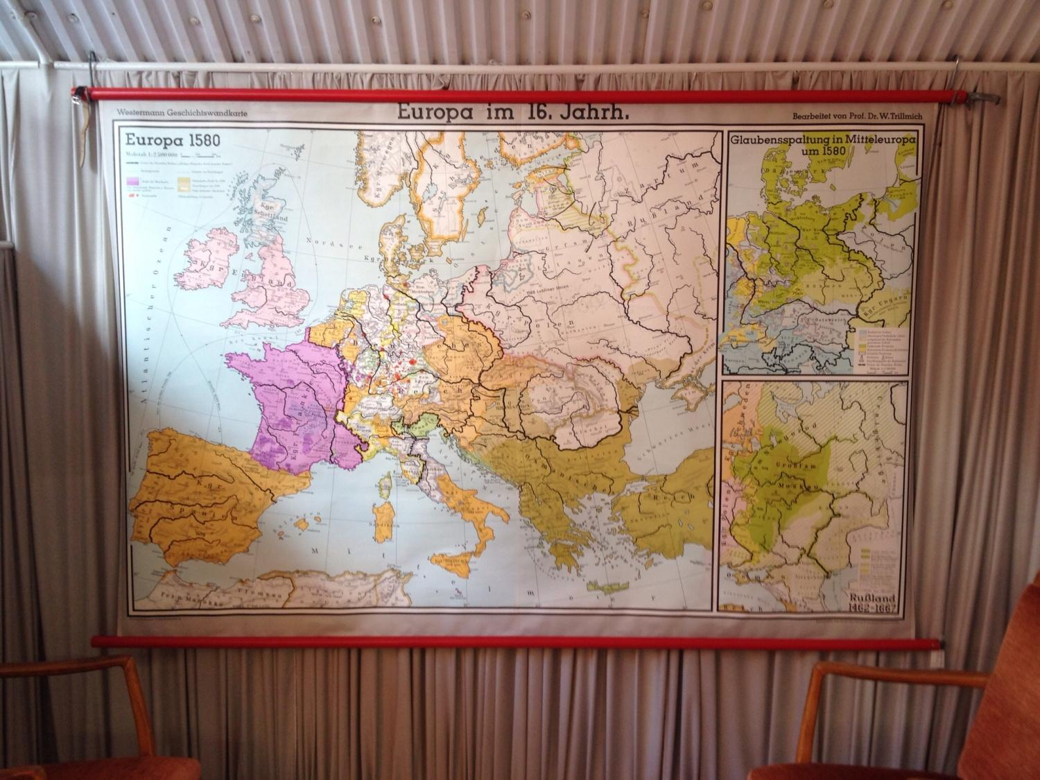 Map of Europe in the 1600's